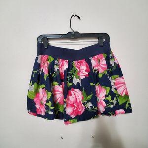 Hollister Navy Blue Floral Skirt